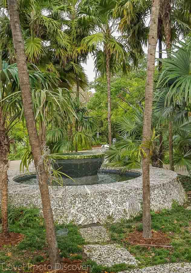 Fountain at Miami Beach Botanical Garden