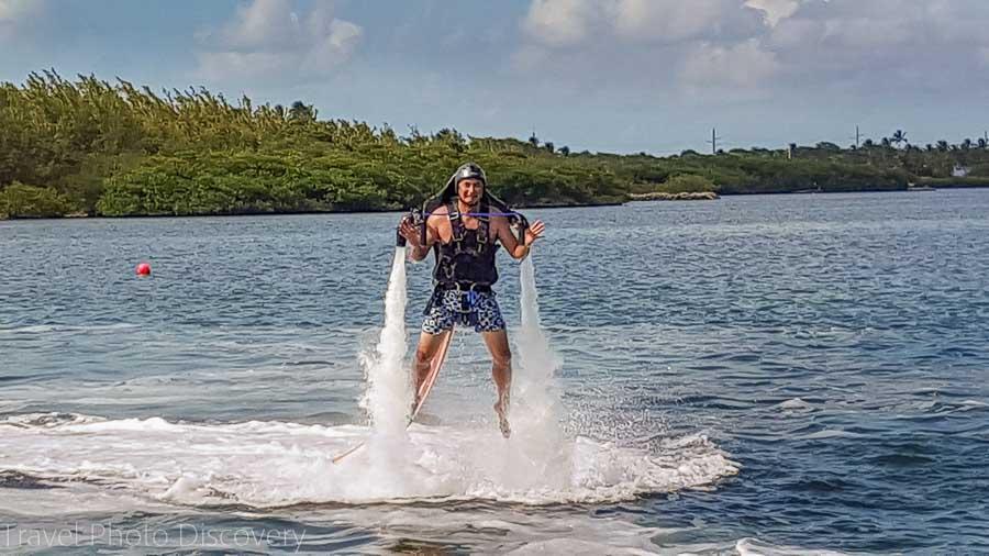Jetpack water sport at Islamorada, Florid