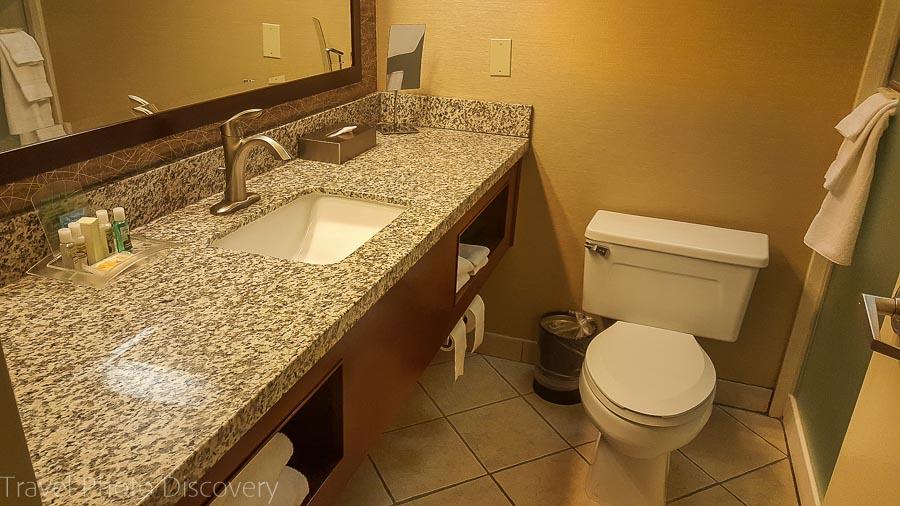 Holiday Inn bathroom, Cody Wyoming