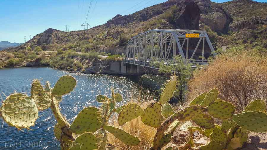 Single lane bridge at Canyon Lake, Apache Trail