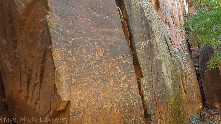 The Sinagua Montezuma petroglyphs in Central Arizona