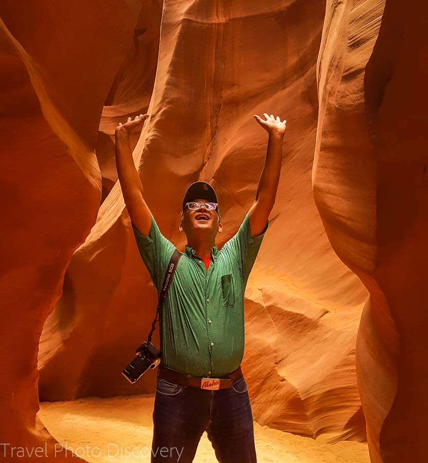 Selfie time Canyon Road trip to Antelope Canyon in Arizona