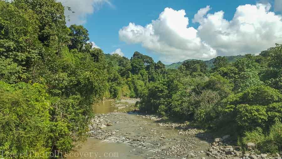 Beautiful flora and landscape along the Chiriqui Viejo river in Boquete Panama