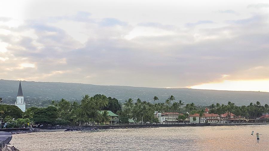 Kona town in the morning on Hawaii Island