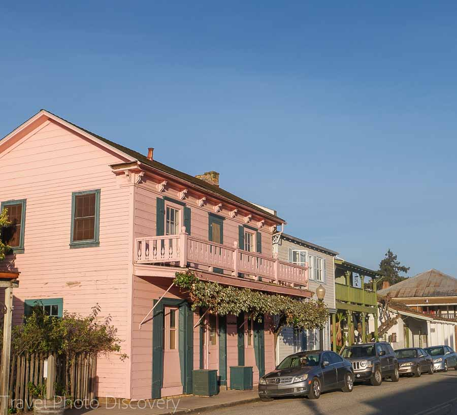 Victorian architecture around San Juan Bautista town