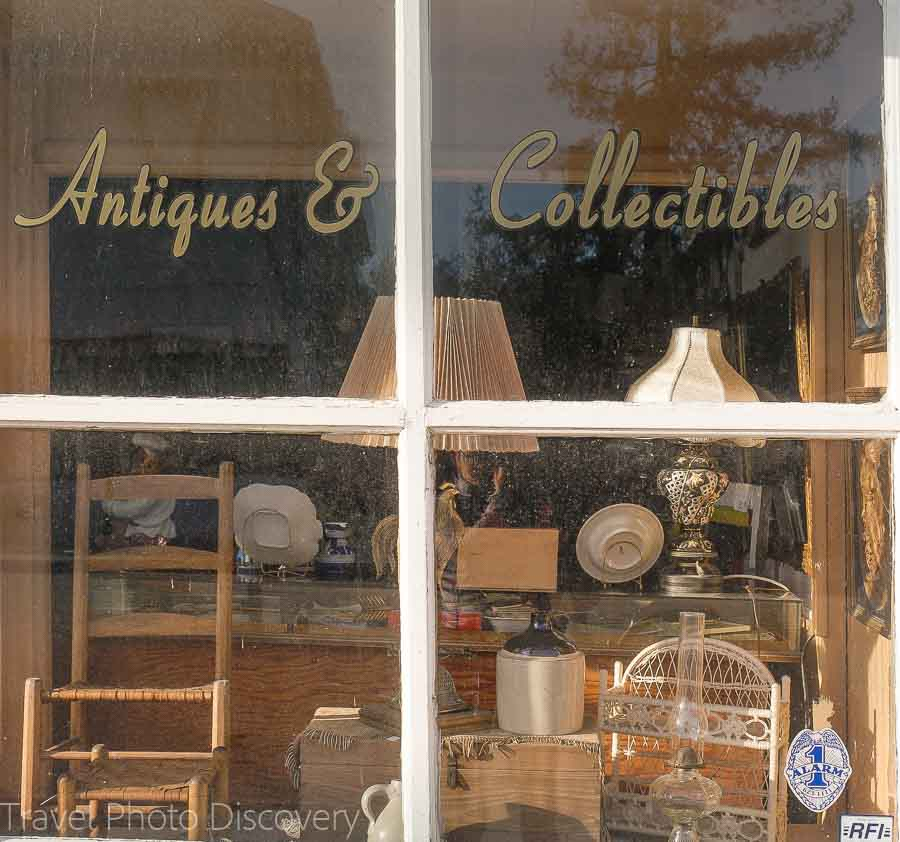 Antique stores at San Juan Bautista town
