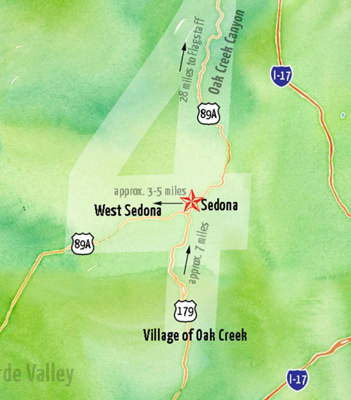 Sedona Area Map - Sedona resorts