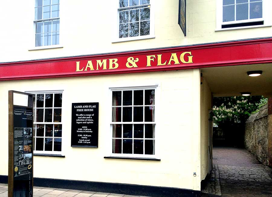 Places to visit Oxford at the Lamb & Flag Pub