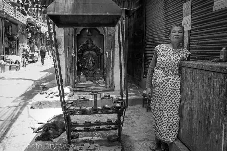 Thamel district street scenes in Katmandu