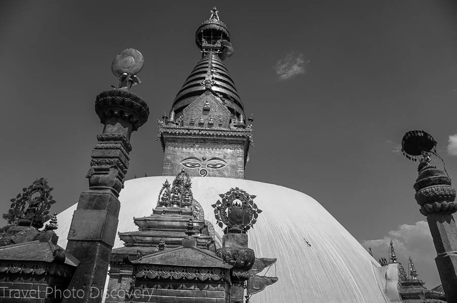 The monkey temple or Swayambhu in Katmandu
