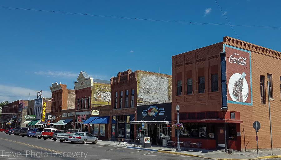 Walking through the historic district at Livingston, Montana