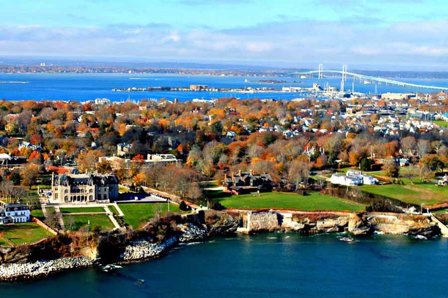 Fall season in Newport, Rhode Island