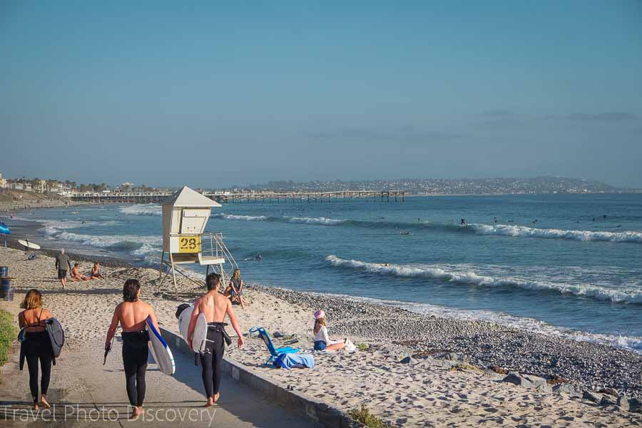 Surfing around La Jolla beaches and adventure activities