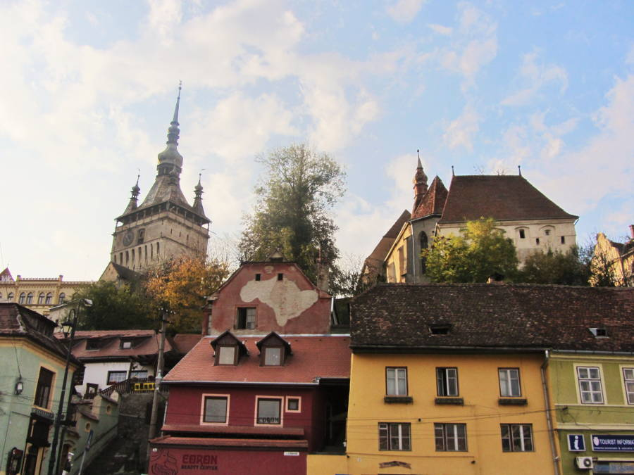transylvania-sighisoara in fall season