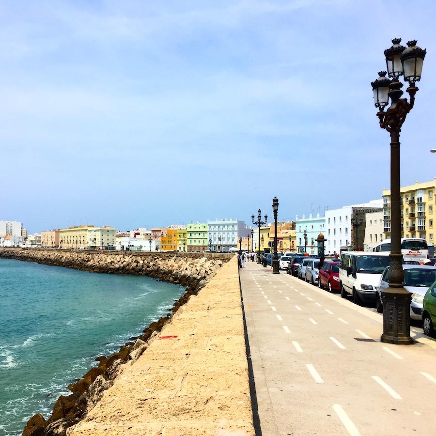 small beaches leading to Cadiz Spain