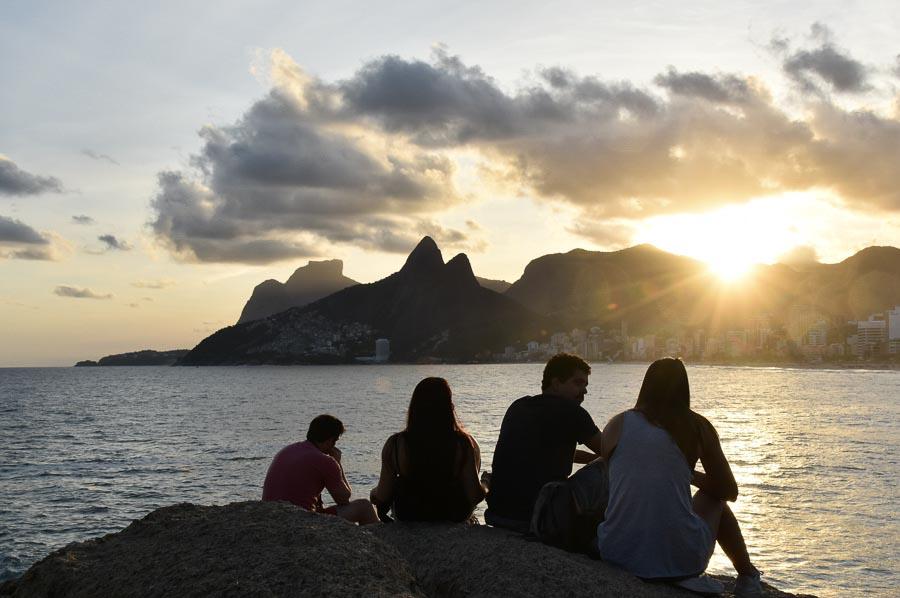 Ipanema beach sunset in Rio