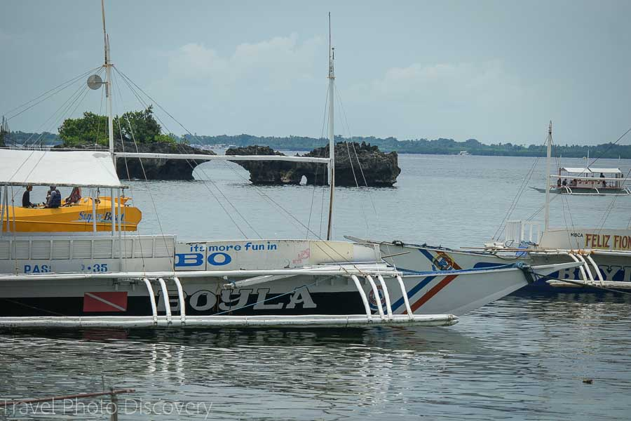 banca island boat tours on Mactan channel