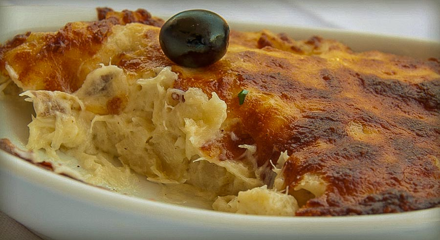 Bacalhau Com Natas to try while in Portugal