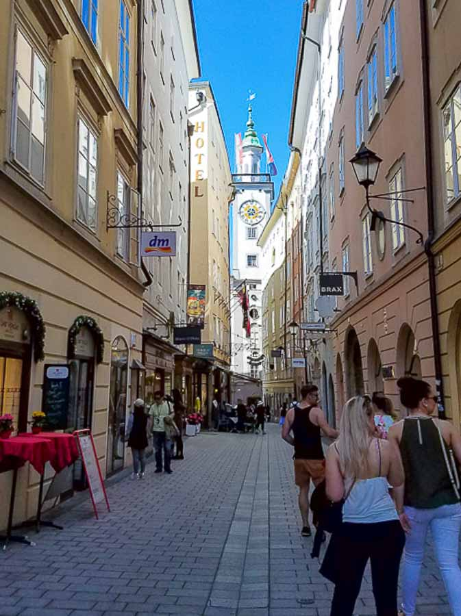 Exploring the streets of Salzburg