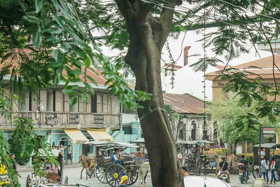 Plaza Burgos in Vigan City