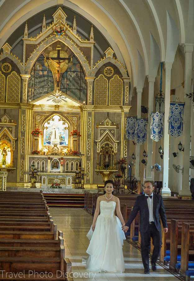 Interior details of Bantay Church in Vigan City