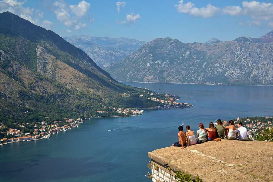 kotor view from castle on top
