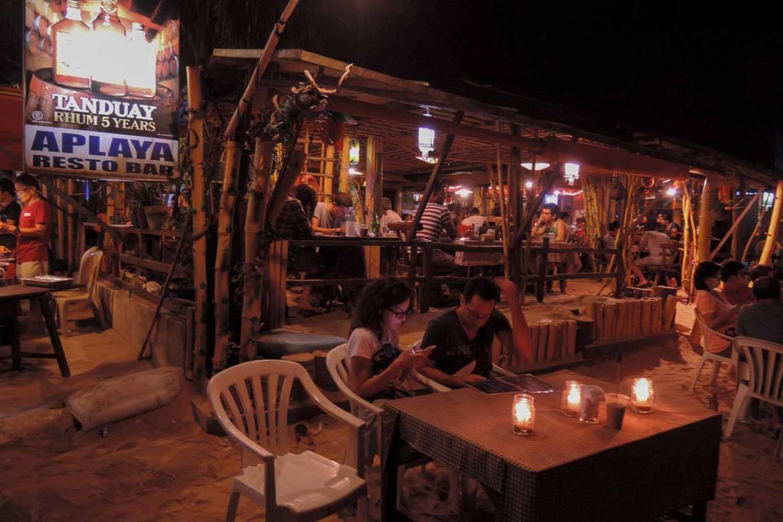 Dinner on the beach at Aplaya Resto Bar, El Nido