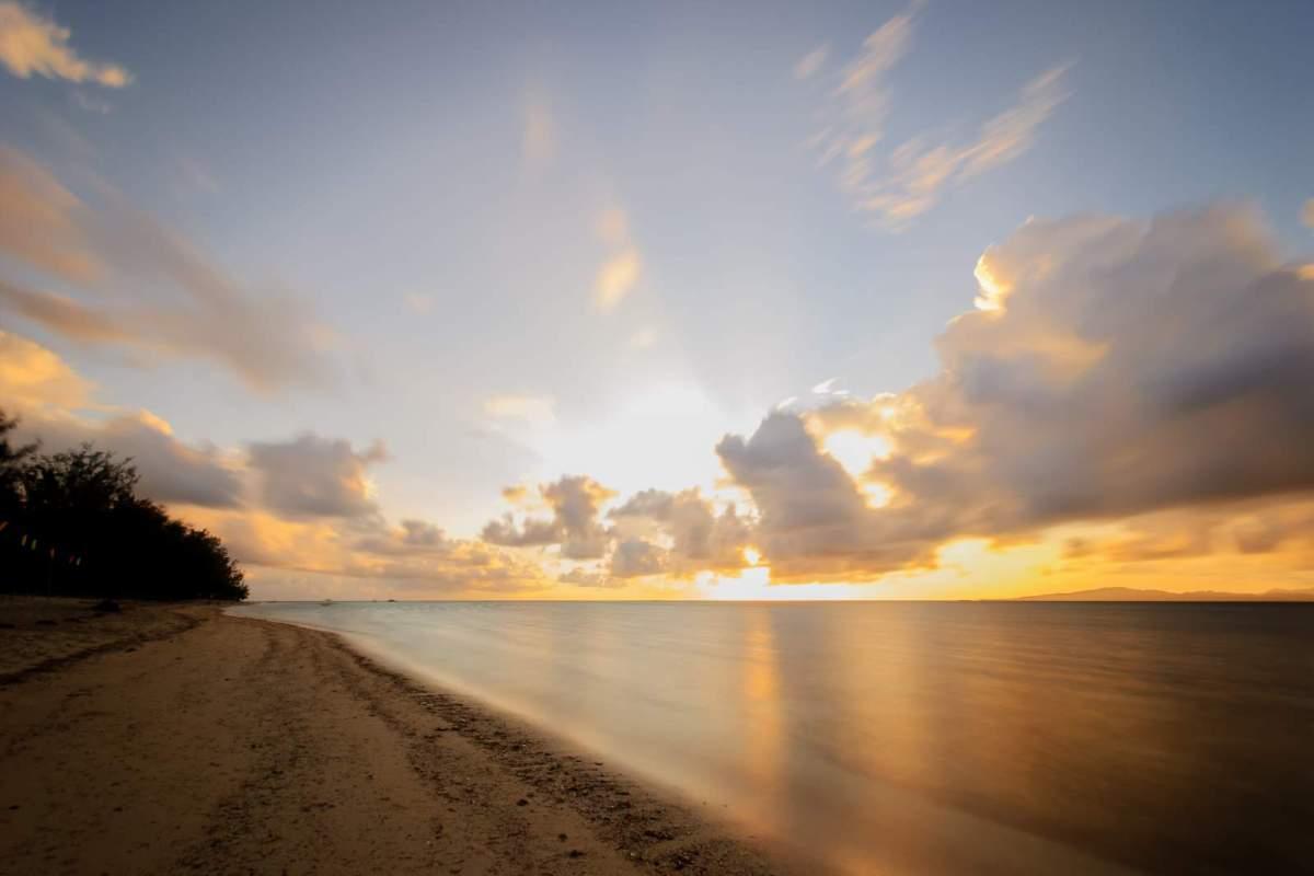 Cagbalete Island Sunrise in front of Villa Noe