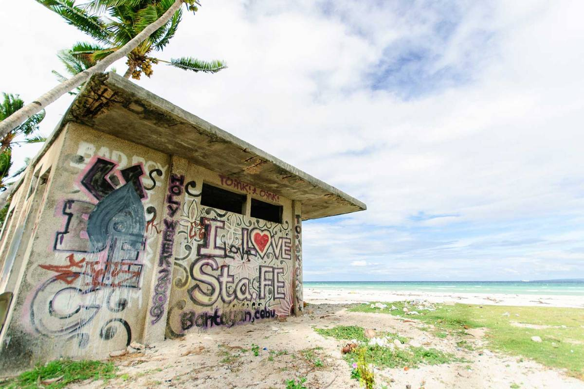 Street graffiti art, Santa Fe beach, Bantayan Island