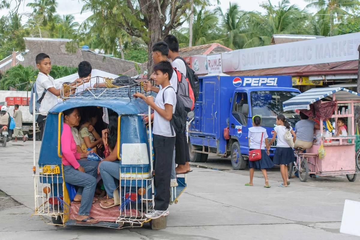 Children going home from school, Santa Fe, Bantayan Island