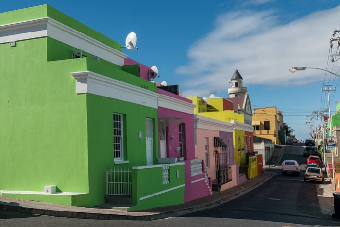 The very pretty Bo-Kaap area of town.