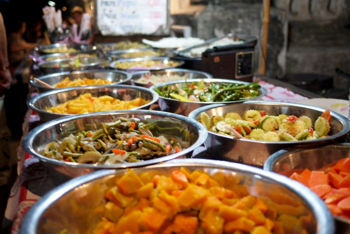 A tasty array of vegetarian street eats in Luang Prabang, Laos