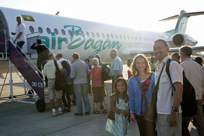 Air Bagan plane on tarmac