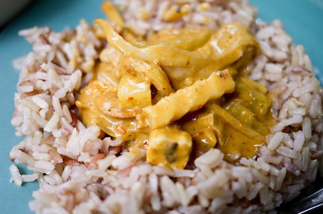 Thai massamun curry food