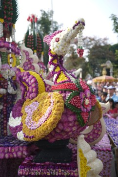 Flower dragon at the Chiang Mai Flower Festival, Thailand