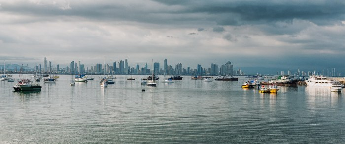 Panama City from Amador island