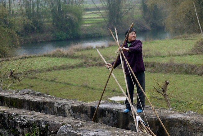 Rural farm worker, China