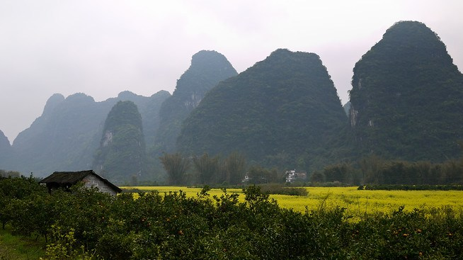 Karst Rocks, Yangshuo, China.