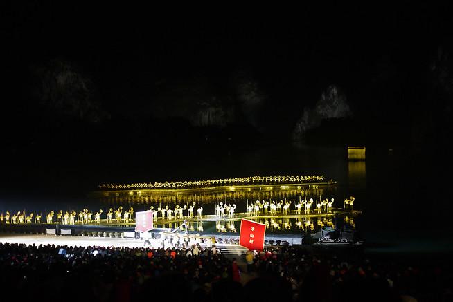 Yangshuo China lights show