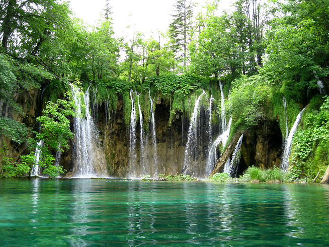 Waterfalls at Plitvice Lakes, Croatia