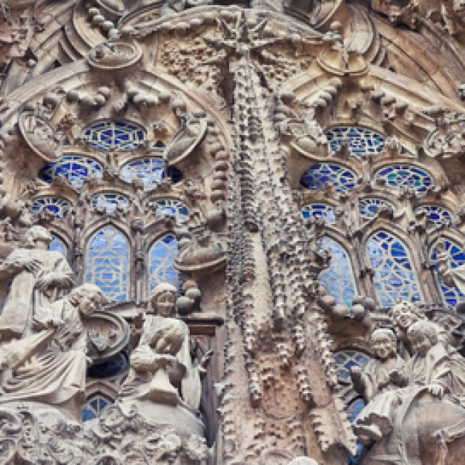 Nativity façade of La Sagrada Familia.
