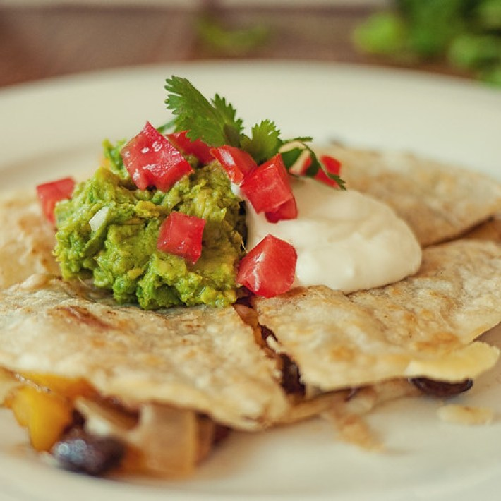 Black bean and pepper quesadilla recipe