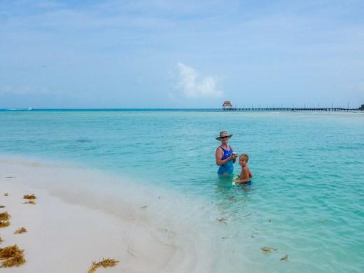 The icy blue waters of Playa Norte, Isla Mujeres