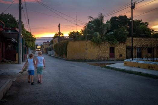 sunset in Izamal