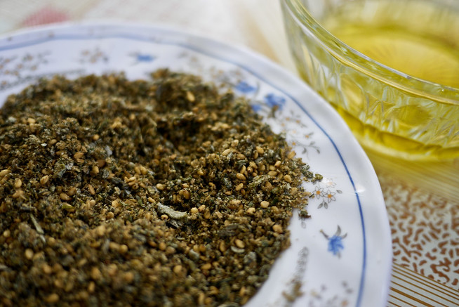 Za'atar is used for sprinkling on dishes that need a little extra pep!