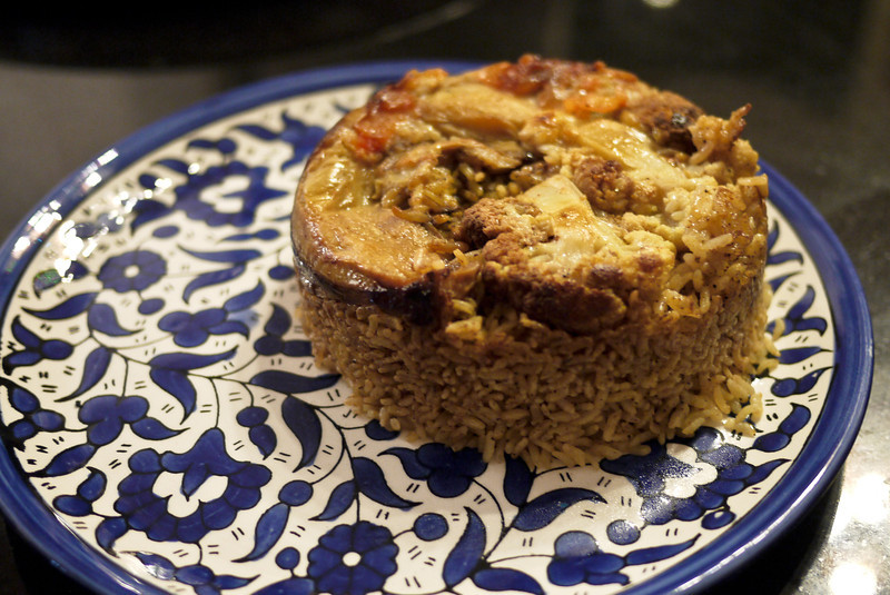Vegetarian food guide to the middle east a vegetarian version of maaloubeh forumfinder Images