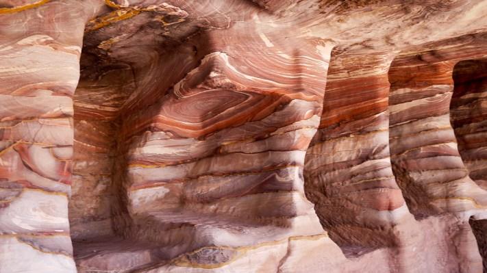 sandstone closeup in Petra