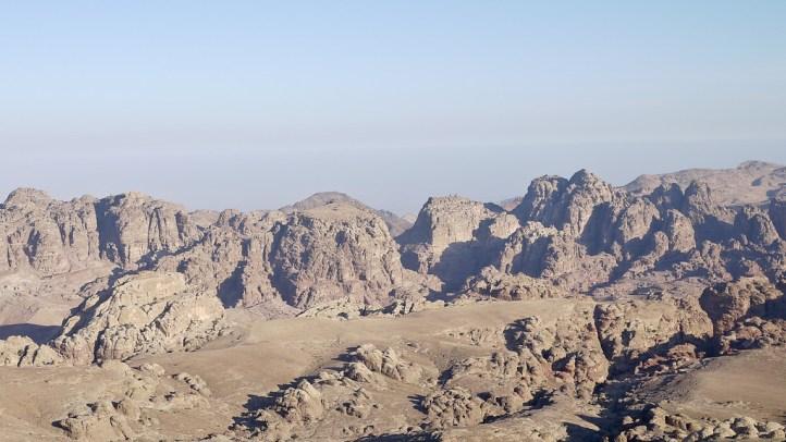 Petra Rocks from Wadi Musa, Jordan