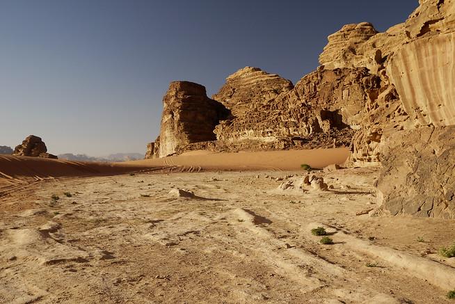 Wide open spaces in Wadi Rum, Jordan