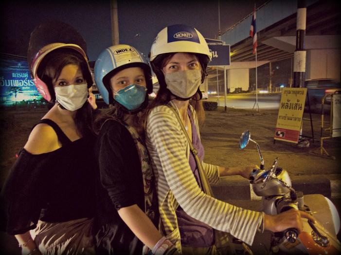 Three to a motorbike